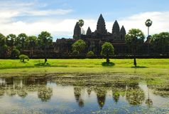 Angkor Wat temple. Cambodia Royalty Free Stock Photography