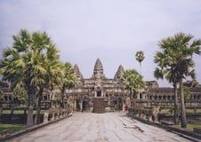 Angkor wat temple camboida Royalty Free Stock Image