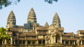 Angkor Wat. The temple complex in Cambodia stock footage