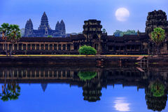 Angkor Wat Temple complex view at the main entrance, located nea Royalty Free Stock Photos