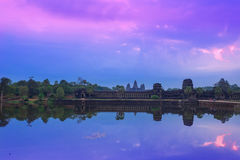 Angkor Wat Temple complex view at the main entrance, located nea Royalty Free Stock Photo