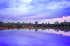 Angkor Wat Temple complex view at the main entrance, located nea Royalty Free Stock Images