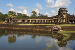Angkor Wat Temple Entrance and pool Stock Photo