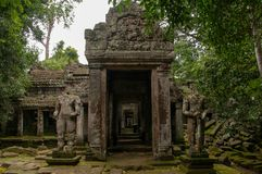 Angkor Wat Temple entrance stone gateway stock images
