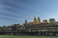 Angkor Wat temple in hot sunny morning Royalty Free Stock Image