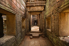 Angkor Wat temple inside corridor walls, Cambodia Stock Photo