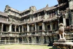 Angkor wat temple near siem reap cambodia Stock Image