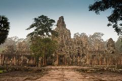 Angkor Wat temple. Overgrown Hindu temples at Angkor Wat area near Siem Reap, Cambodia. The temples date back to 9th -11th century; but were abandoned by the stock images
