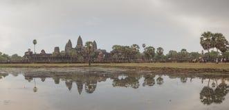 Angkor Wat temple panoramic view Royalty Free Stock Photo