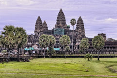 Angkor Wat Temple Purple Sunrise Stock Image