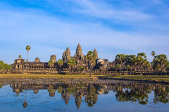 Angkor Wat Temple reflection in the pond water Stock Photos