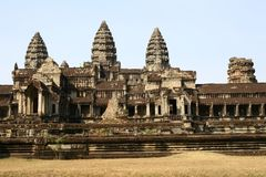 Angkor Wat temple ruins Royalty Free Stock Images