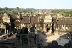 Angkor Wat temple ruins Stock Photography
