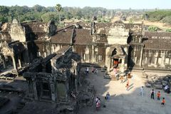 Angkor Wat temple ruins Royalty Free Stock Photos
