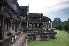 Angkor Wat temple side view royalty free stock photo