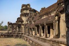 Angkor Wat Temple, Siem oogst, de ruïnes van Kambodja Royalty-vrije Stock Afbeeldingen