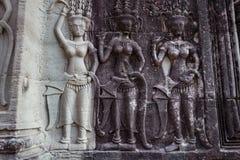 Angkor Wat Temple, Siem oogst, de ruïnes van Kambodja Stock Foto's