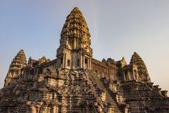 Angkor Wat Temple, Siem oogst, de ruïnes van Kambodja Royalty-vrije Stock Foto