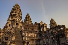 Angkor Wat Temple, Siem oogst, de ruïnes van Kambodja Royalty-vrije Stock Afbeelding