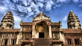 Angkor Wat Temple. At Siem Reap in Cambodia royalty free stock image