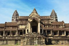 Angkor Wat Temple in Siem Reap Cambodia Royalty Free Stock Photo
