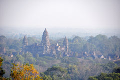 Angkor Wat temple, Siem Reap from the top of Phnom Bakheng Royalty Free Stock Photos