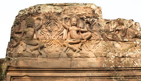 Angkor Wat temple stone carving detail Stock Images