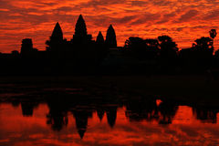 Angkor Wat temple at the sunrise, Cambodia Stock Images
