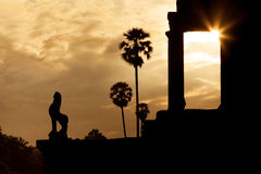 Angkor Wat temple at sunrise Stock Photography