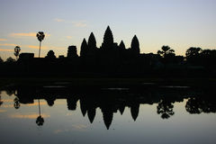 Angkor Wat temple at sunrise, Siem Reap, Cambodia Royalty Free Stock Images