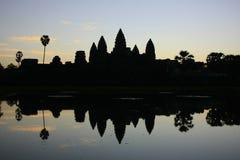 Angkor Wat temple at sunrise, Siem Reap, Cambodia Royalty Free Stock Images