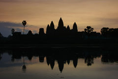 Angkor Wat temple at sunrise, Siem Reap, Cambodia Stock Photo
