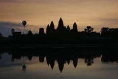 Angkor Wat temple at sunrise, Siem Reap, Cambodia Stock Photo