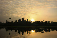 Angkor Wat temple at sunrise, Siem Reap, Cambodia Stock Photos