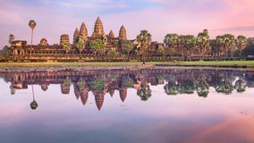 Angkor Wat temple at sunrise, Siem Reap, Cambodia Stock Photos