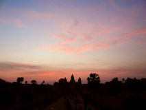 Angkor Wat temple sunrise Stock Photography