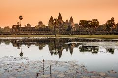 Angkor Watt temple at sunrise. Stock Images
