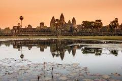 Angkor Watt temple at sunrise. Stock Images