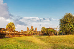 Angkor wat temple in sunset light Stock Image