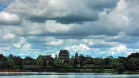 Angkor Wat temple time lapse loop Stock Photos