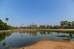 The Angkor wat temple view Royalty Free Stock Photography