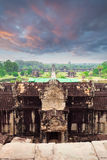 Angkor Wat temple. View from inside the temple Royalty Free Stock Photography