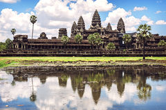 Angkor Wat Temple view, Siem reap, Cambodia Royalty Free Stock Image
