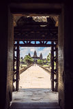 Angkor Wat Temple view, Siem reap, Cambodia Stock Photo