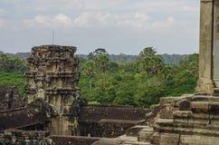Angkor Wat - templo do Khmer, Camboja, 3Sudeste Asiático Fotos de Stock Royalty Free