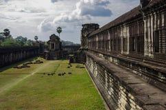 Angkor Wat - templo do Khmer na província de Siem Reap, Camboja, sul Fotografia de Stock Royalty Free