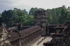 Angkor Wat - templo do Khmer na província de Siem Reap, Camboja, sul Imagens de Stock Royalty Free