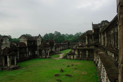 Angkor Wat Terrace area Royalty Free Stock Photo
