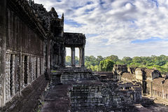 Angkor Wat terrace. This is a temple complex in Cambodia and the largest religious monument in the world Royalty Free Stock Image