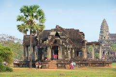 Angkor Wat tourists Royalty Free Stock Photography